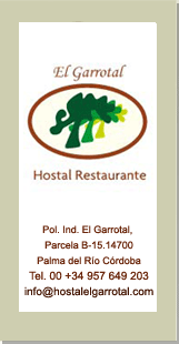 Hostal EL Garrotal - Contact
